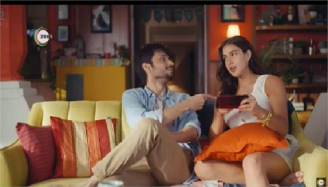 zee5 launches a new campaign with sara ali khan and amol parashar