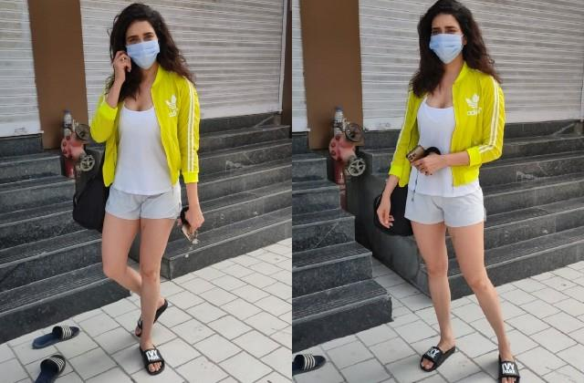 karishma tanna spotted outside the gym