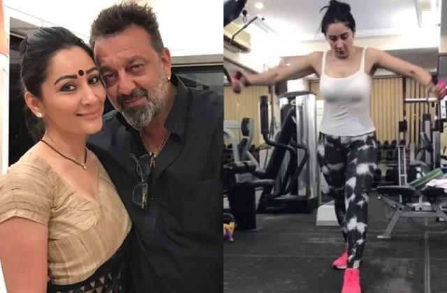 sanjay dutt wife maanayata dutt shares her workout video