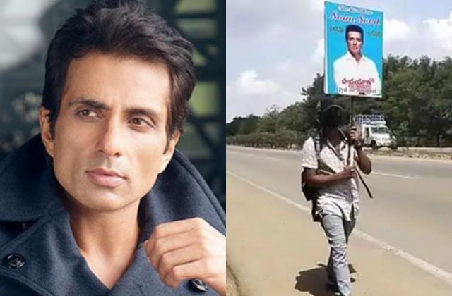 student venkatesh walked 700 km from hyderabad to mumbai meet sonu sood