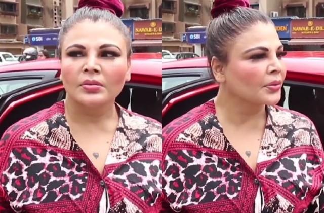 rakhi sawant scolds person who staring her video viral