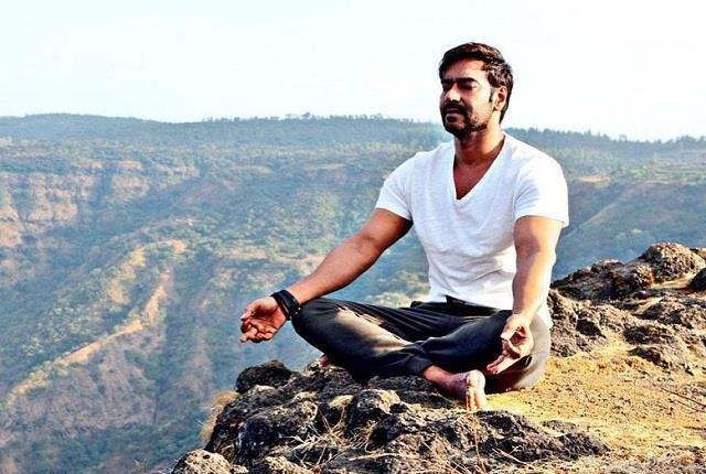 ajay devgan shared his meditation pic on world environment day