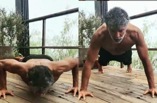milind soman 40 push ups in one minute video viral
