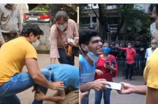 cancer victim crying after met sonu sood actor gave him phone