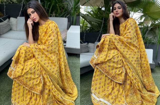 mouni roy shares her gorgeous photos in yellow dress