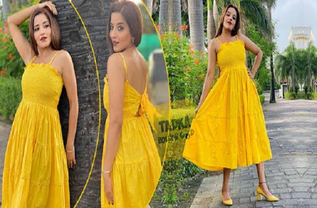monalisa shares her gorgeous photos in yellow dress
