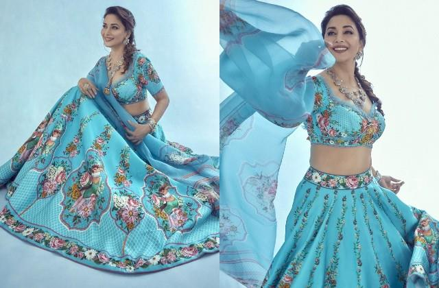 madhuri dixit shares her photos in lehenga look