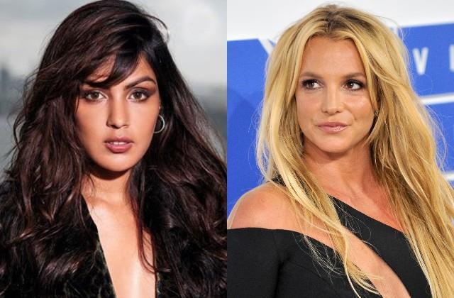 rhea chakraborty came support of american star britney spears