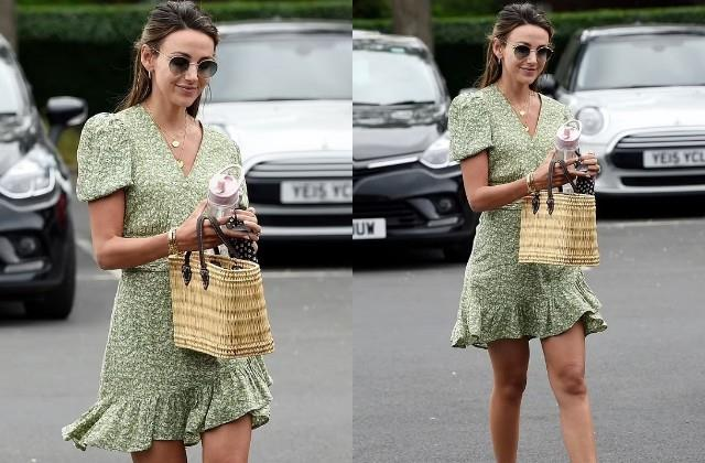 michelle keegan spotted in cheshire