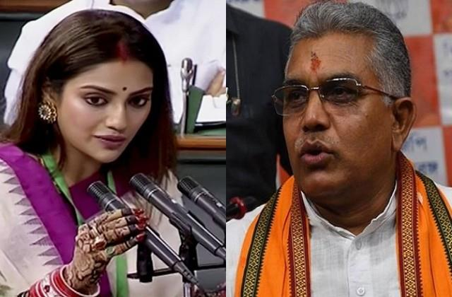 dilip ghosh told nusrat jahan fraud for saying her marriage invalid