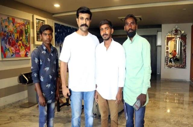 fans walk 231 km to meet actor ram charan from telangana to hyderabad