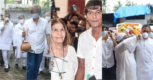 chunky pandey mother snehalata funeral pictures
