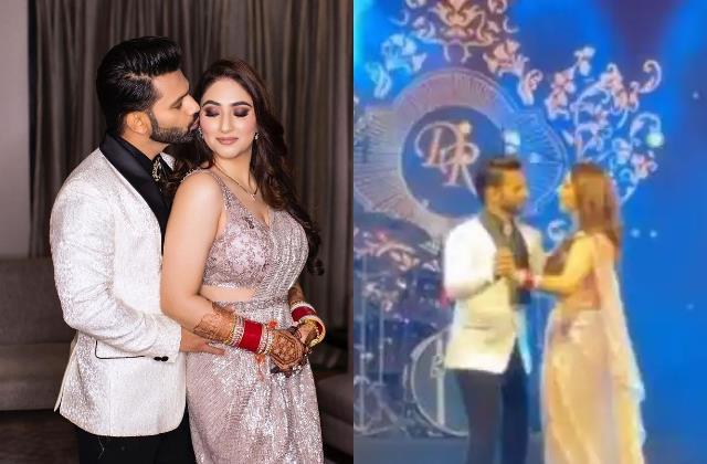disha parmar rahul vaidya reception party pictures and videos