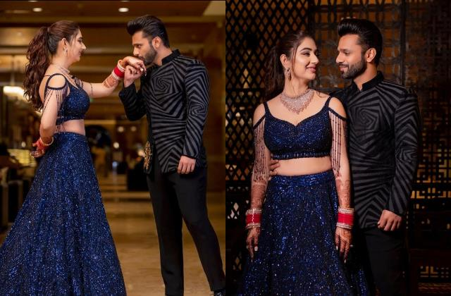 rahul vaidya stylish photoshoot with wife disha parmar