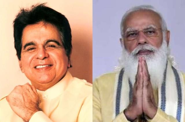 pm narendra modi expressed grief over the death of veteran actor dilip kumar