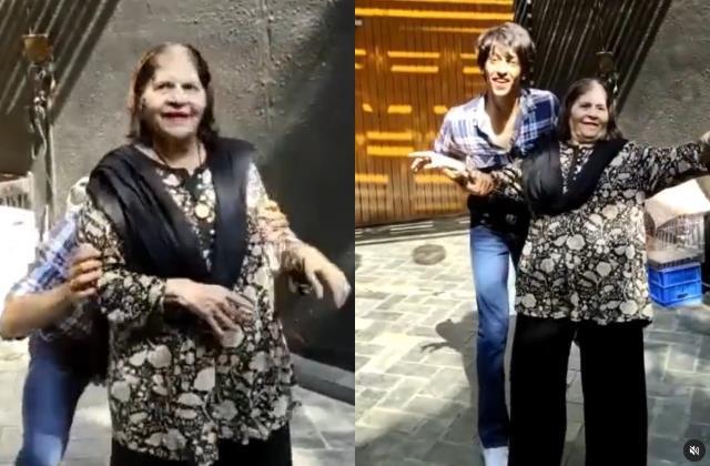 ananya pandey grandmother snehlata pandey dance video viral