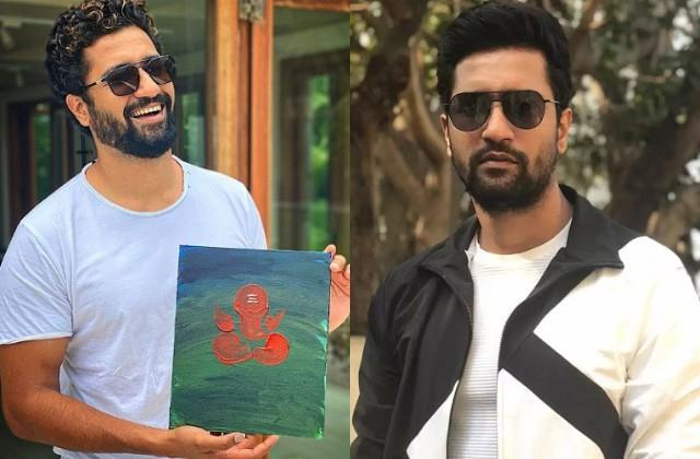 vicky kaushal showed his hidden talent made painting of lord ganesha