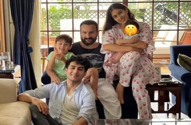 sara ali khan shares photo with father and brothers on eid