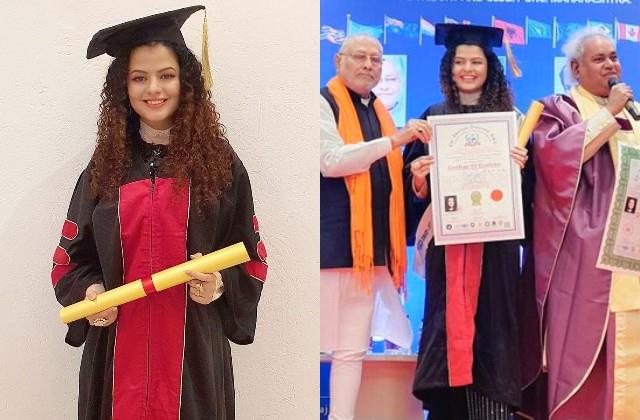 singer palak got a doctorate degree from american university