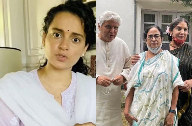 जावेद-शबाना ने की ममता बनर्जी से मुलाकात, CM को राक्षसी ताड़का बताते हुए कंगना बोलीं-'जरा संभल के सब देशद्रोहियों नंगा करूंगी'