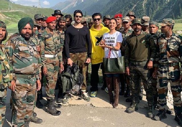 sidharth kiara karan meet the kargil soldiers for trailer launch of shershaah