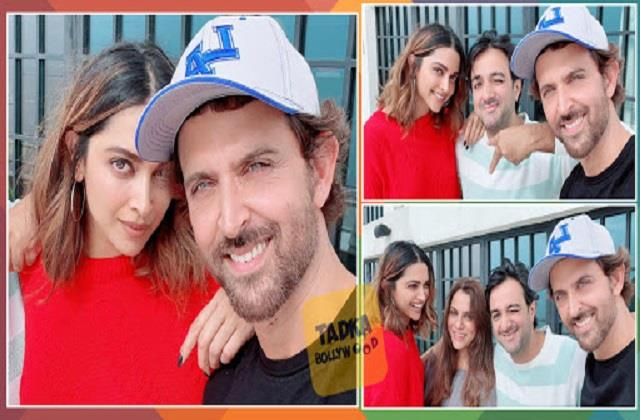 hrithik shares pihoto with film fighter team deepika and siddharth anand
