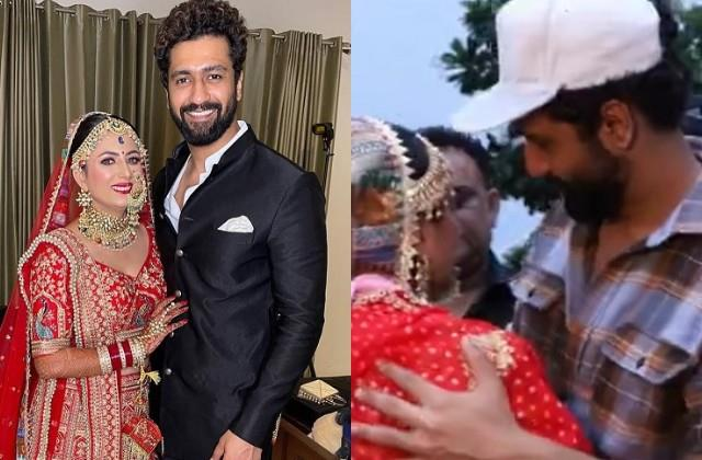 vicky kaushal attends cousin wedding photos and videos viral