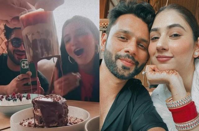 rahul vaidya and disha parmar enjoy lunch date with aly goni and jasmin bhasin