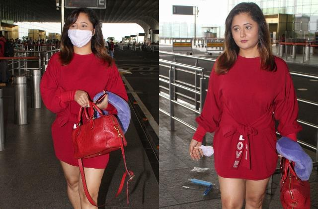 Pics: शाॅर्ट ड्रेस में स्टनिंग दिखीं रश्मि देसाई,एयरपोर्ट पर फ्लाॅन्ट की टोन्ड लेग्स