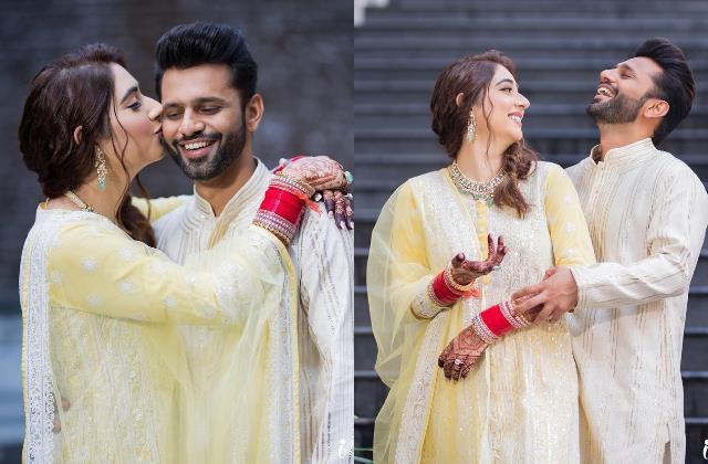 rahul vaidya disha parmar first outing after marriage