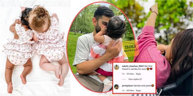 is danielle share a picture of virat kohli and anushka sharma baby vamika