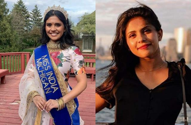 vaidehi dongre from michigan win miss india usa 2021 crown
