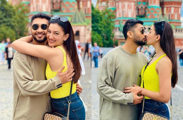gauahar khan zaid darbar enjoy honeymoon in moscow