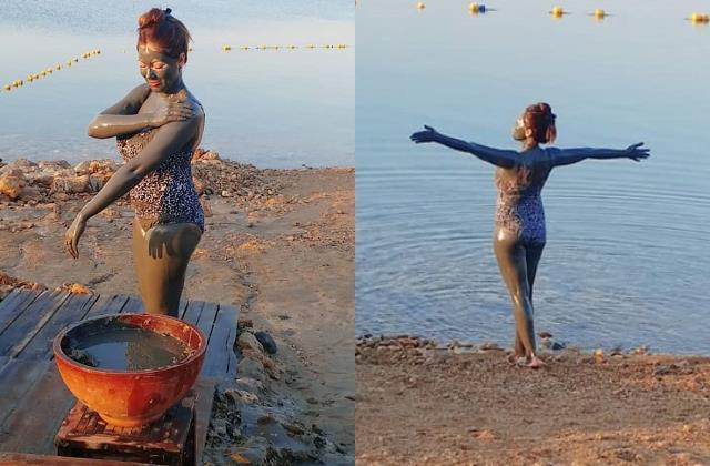 babita ji aka munmun dutta takes mud bath in monokini