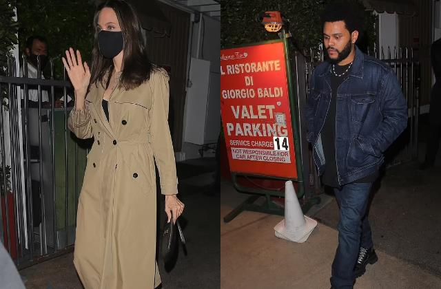 angelina jolie enjoys dinner date with singer the weeknd