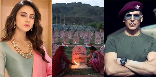 kargil vijay diwas 2021 akshay kumar and rakulpreet singh salute the martyrs