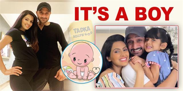 geeta basra and harbhajan singh welcome baby boy