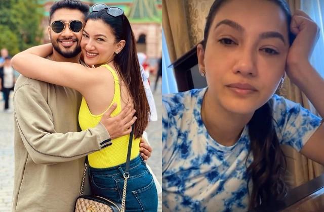 gauahar khan missing her father zafar ahmed khan video viral