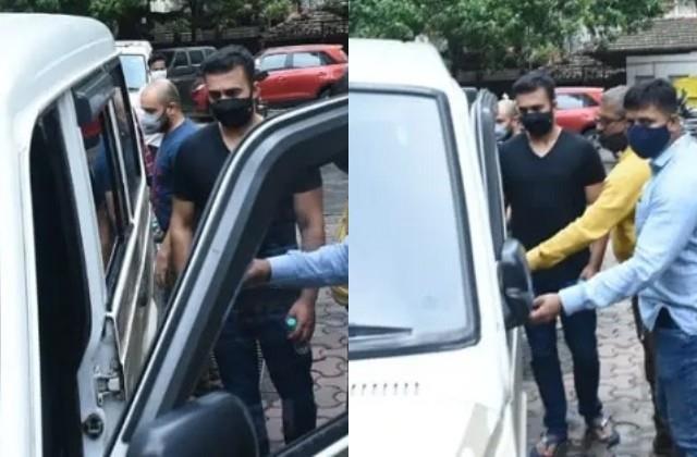 raj kundra medical test for second time after his arrest photos viral