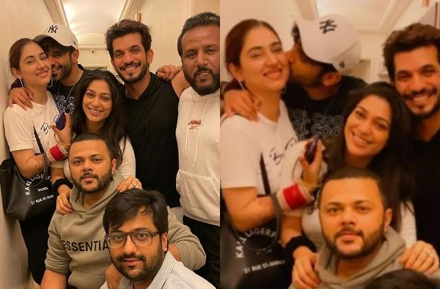 newlyweds disha rahul cosy as they hangout with arjun and his wife