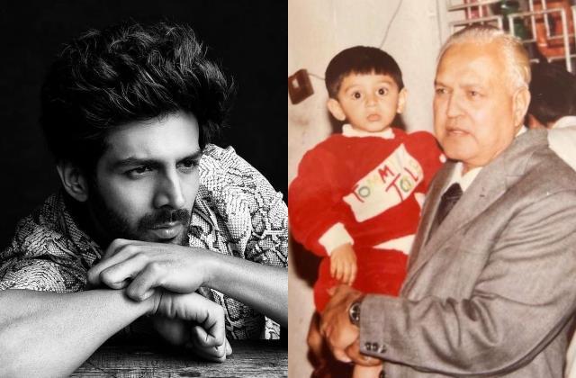 kartik aaryan grandfather passes away