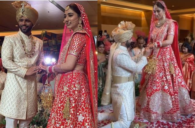 rahul vaidhya disha parmar wedding first photos and video viral