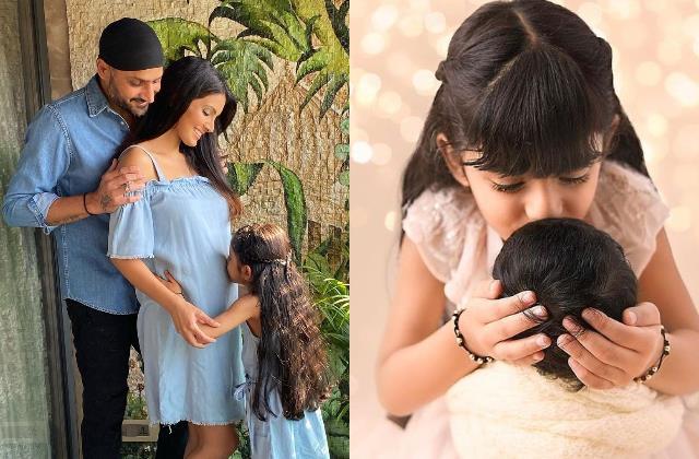 geeta basra share son jovan veer first picture with daughter hinaya heer