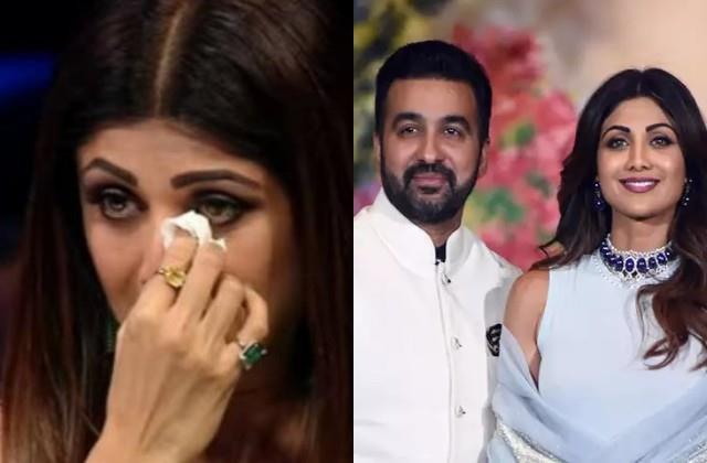 shilpa break down after argument with husband raj infront of crime branch