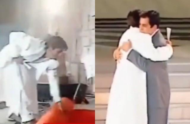 video when shahrukh had laid red carpet for dilip kumar at award function