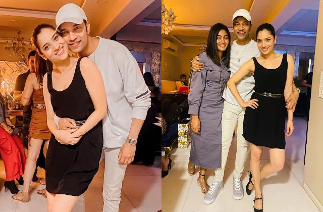 ankita lokhande party with boyfriend vicky jain and friends