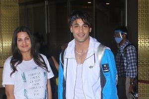 asim riaz returns to mumbai with himanshi after celebrate birthday in chandigarh