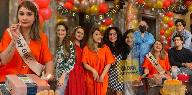 urvashi dholakia celebrate her birthday with family and friends