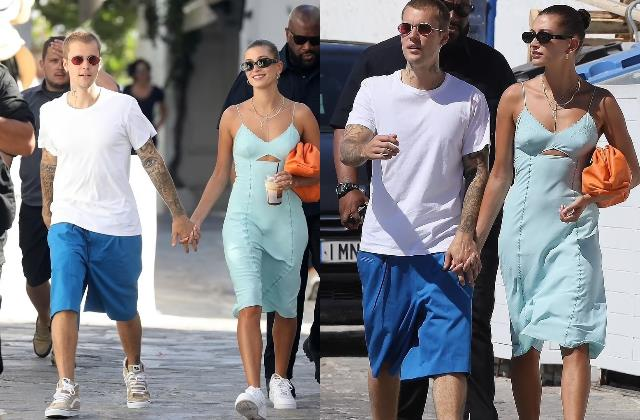justin bieber explore the mykonos with his stunning wife hailey bieber