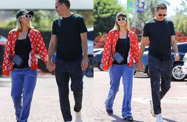 paris hilton spotted with fiance carter reum in malibu